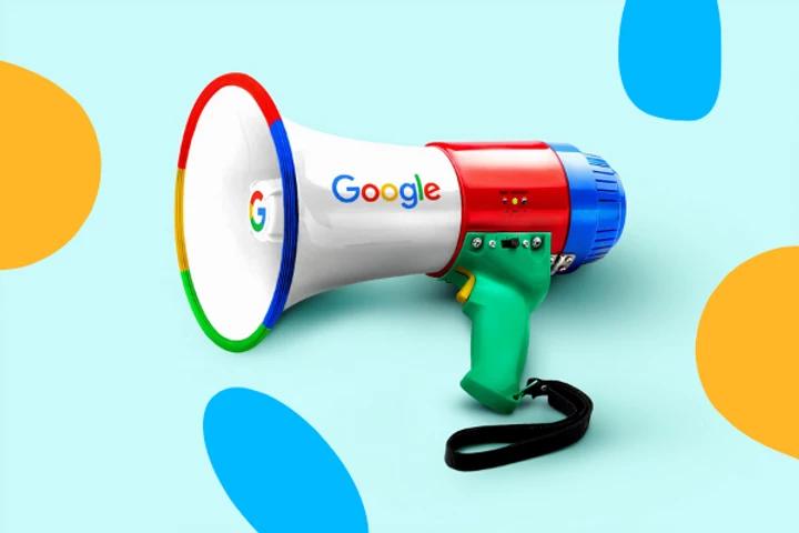 Mégaphone logo Google